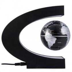 C Shape Levitation Floating Globe Rotating Magnetic World Map Colorful LED Lamp Gift Decoration